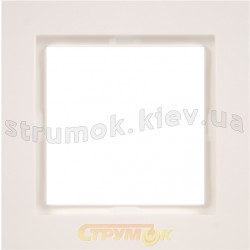 Рамка 1-постовая Fiorena белая 22011602 Polo / Hager