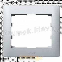 Рамка 1-постовая Fiorena металлик 22011609 Hager / Polo