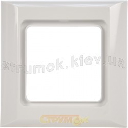 Рамка 1-постовая Optima 12011602 Hager / Polo белый цвет