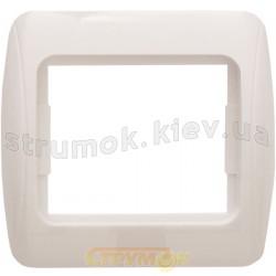 Рамка одинарная Рм-1-Sq-W белая АСКО