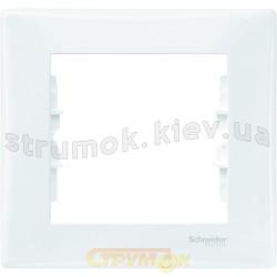 Рамка 1-кратная белая SDN5800121 Sedna SCHNEIDER