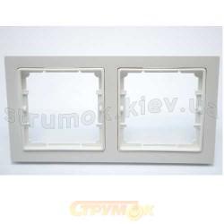 Рамка 2-постовая белый цвет PERA + вставка GES 2101-801-1201