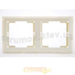 Рамка 2-постовая горизонтальная бежевый цвет HANAK GES 2120-800-1202