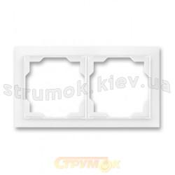 Рамка 2-постовая Neo 3901M-A00120 03 ABB белый цвет