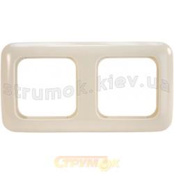 Рамка 2-постовая 2512-212-507 ABB Busch-Duro слоновая кость