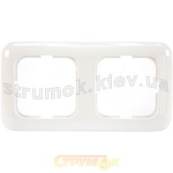 Рамка 2-постовая 2512-214-507 ABB Reflex белый цвет