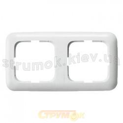 Рамка 2-постовая 2512-214K АВВ Reflex белый цвет