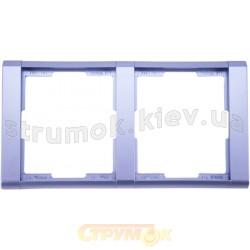 Рамка 2-постовая 3901F-A00120 31 ABB Time металлик / арктика