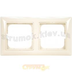Рамка 2-постовая ABB Basic 55 2512-92-507 слоновая кость