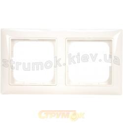 Рамка 2-постовая ABB Basic 55 2512-94-507 белый цвет