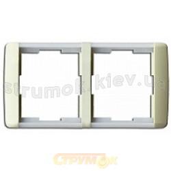 Рамка 2-постовая ABB Time Element 3901E-A00120 23 шторм/серый лед