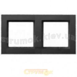 Рамка 2-постовая (антрацит) Fiorena 22011710 Hager  Polo