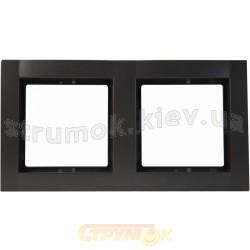 Рамка 2-постовая антрацит-matt Fiorena 22011720 Hager / Polo