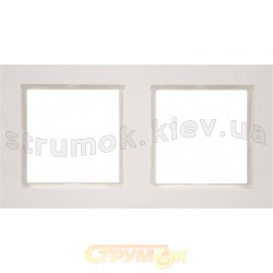 Рамка 2-постовая Fiorena 22011702 Hager / Polo белый цвет