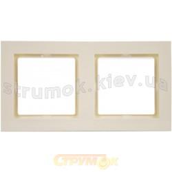 Рамка 2-постовая Fiorena 22011703 Hager / Polo слоновая кость