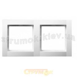 Рамка 2-постовая Fiorena металлик 22011709 Hager  Polo