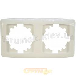 Рамка 2-постовая горизонтальная Viko Carmen белый цвет