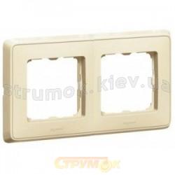Рамка 2-постовая Legrand Cariva 773752 слоновая кость