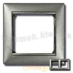Рамка 2-постовая Legrand Valena 770152 алюминий