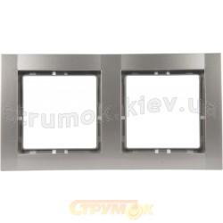 Рамка 2-постовая металлик-matt Fiorena 22011719 Hager / Polo