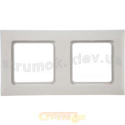 Рамка 2-постовая Optima 12011702 Hager / Polo белый цвет