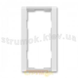 Рамка 2-постовая вертикальная 3901F-A00121 31 ABB Time арктик металлик