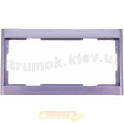 Рамка 2-постовая вертикальная 3901F-A00121 32 ABB Time серебристый металлик