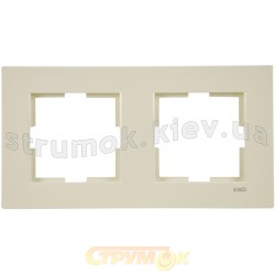 Рамка 2-постовая Viko Karre кремовый цвет 90960211