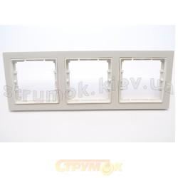 Рамка 3-постовая горизонтальная белый цвет HANAK GES 2120-800-1301