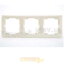 Рамка 3-постовая горизонтальная бежевый цвет HANAK GES 2120-800-1302
