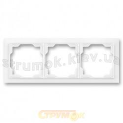 Рамка 3-постовая Neo 3901M-A00130 03 ABB белый цвет