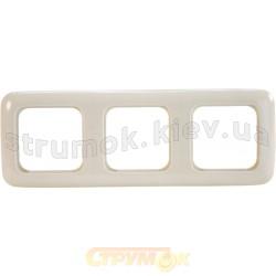 Рамка 3-постовая 2513-212-507 ABB Busch-Duro слоновая кость