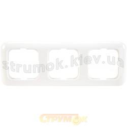 Рамка 3-постовая 2513-214-507 ABB Reflex белый цвет