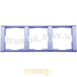 Рамка 3-постовая 3901F-A00130 31 ABB Time арктик металлик