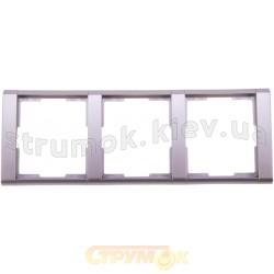 Рамка 3-постовая 3901F-A00130 32 ABB Time серебристый металлик