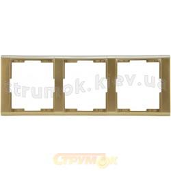 Рамка 3-постовая 3901F-A00130 33 ABB Time шампань / металлик