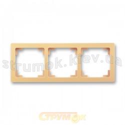Рамка 3-постовая 3901J-A00030 D1 SWING ABB слоновая кость