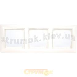 Рамка 3-постовая ABB Basic 55 2513-94-507 белый цвет