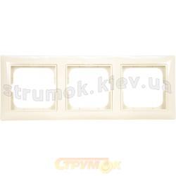 Рамка 3-постовая ABB Basic 552513-92-507 слоновая кость