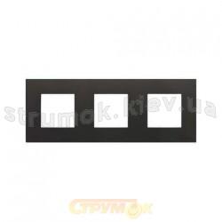 Рамка 3-постовая ABB Zenit  N2273 AN антрацит