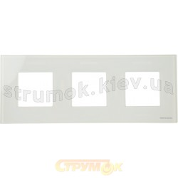 Рамка 3-постовая ABB Zenit N2273 ВL цвет альпийский белый