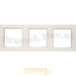 Рамка 3-постовая Fiorena 22011802 Hager / Polo белый цвет