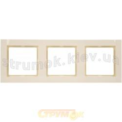 Рамка 3-постовая Fiorena 22011803 Hager / Polo слоновая кость