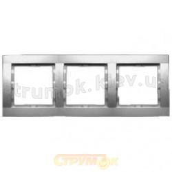 Рамка 3-постовая Fiorena металлик 22011809 Hager / Polo