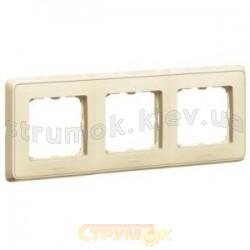 Рамка 3-постовая Legrand Cariva 773753 слоновая кость