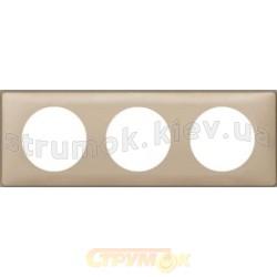 Рамка 3-постовая Legrand Celiane 068663 имбирь
