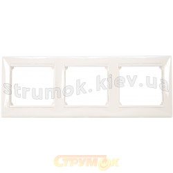 Рамка 3-постовая Legrand Valena 774453 белый цвет