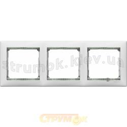 Рамка 3-постовая Legrand Valena 774463 белая  кристалл
