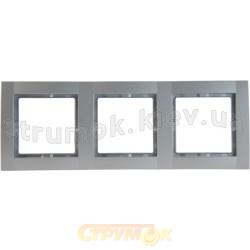 Рамка 3-постовая металлик-matt Fiorena 22011819 Hager / Polo