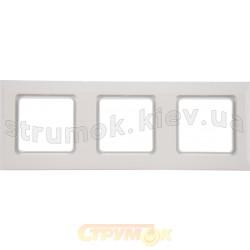 Рамка 3-постовая Optima 12011802 Hager / Polo белый цвет